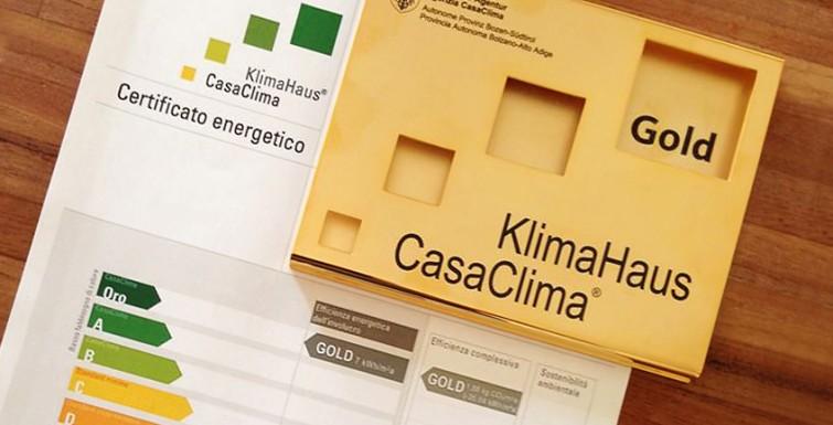 Certificazione energetica GOLD. Sostenibilità e risparmio